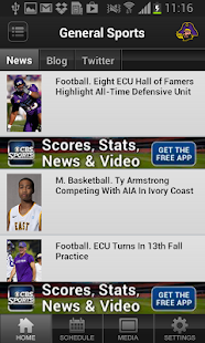 ECU Pirates Sports - screenshot thumbnail