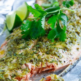 Cilantro and Lime Salmon.