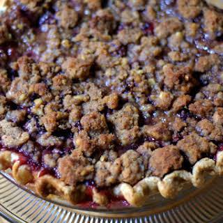 Spiced Plum Crumble Pie.