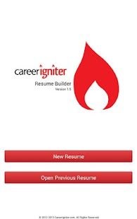 Career Igniter Resume Builder- screenshot thumbnail