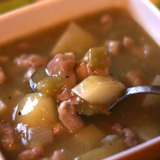 Sweet Potato and Pork Green Chile Stew