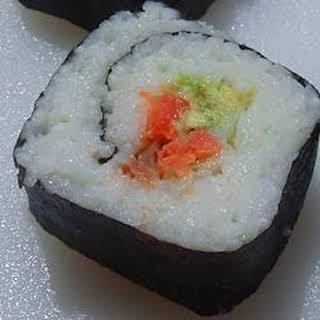 Smoked Salmon Sushi Roll.