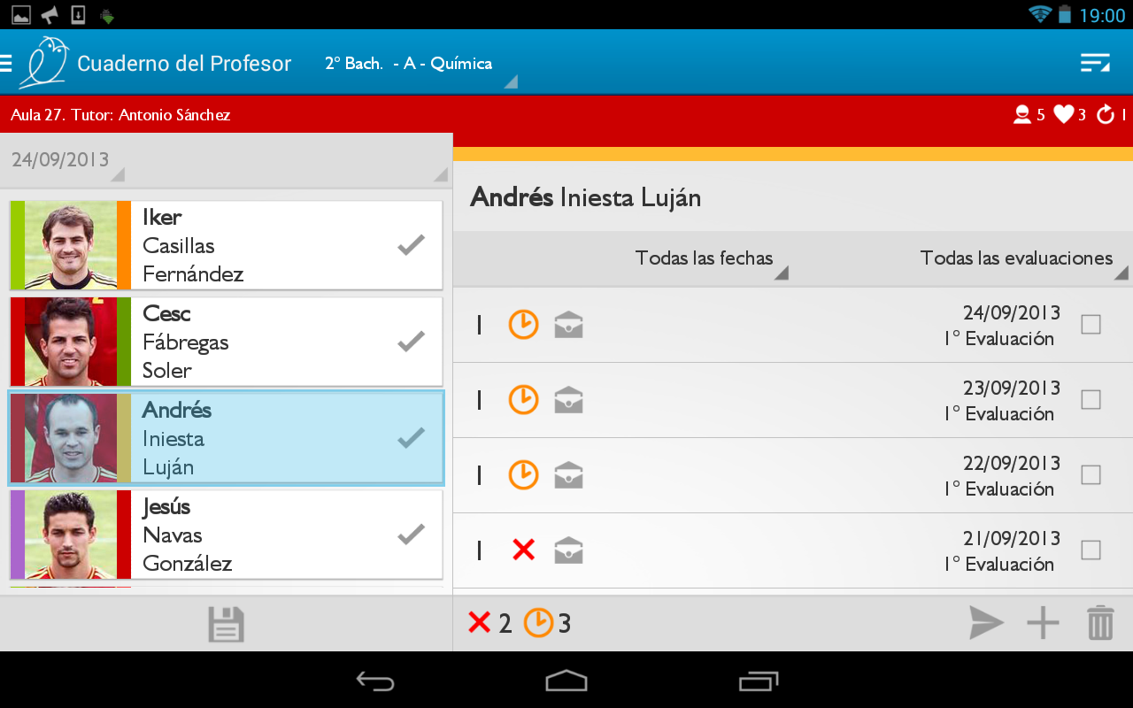 Teacher's Notebook Lite - screenshot