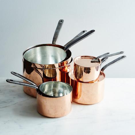 Vintage Copper English Saucepan, Mid 19th Century #2