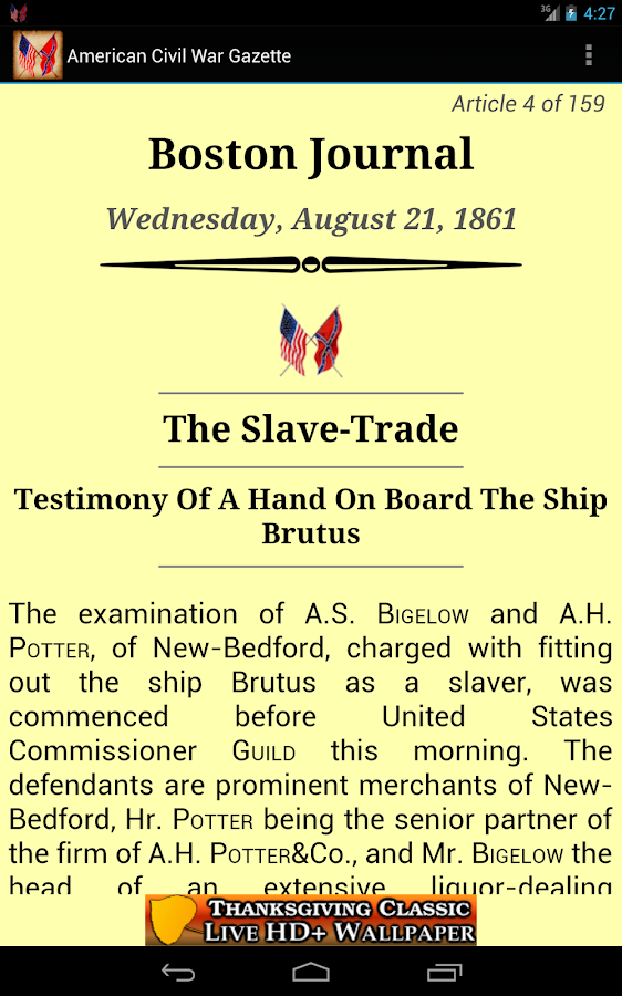 1861 Aug Am Civil War Gazette - screenshot