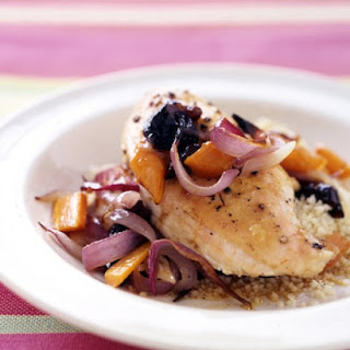 Roasted Chicken Breasts with Carrots and Onions Recipe