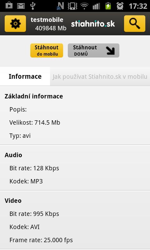 Stiahnito.sk - screenshot