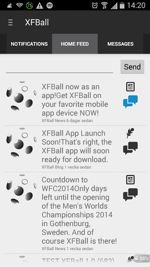 XFBall- screenshot