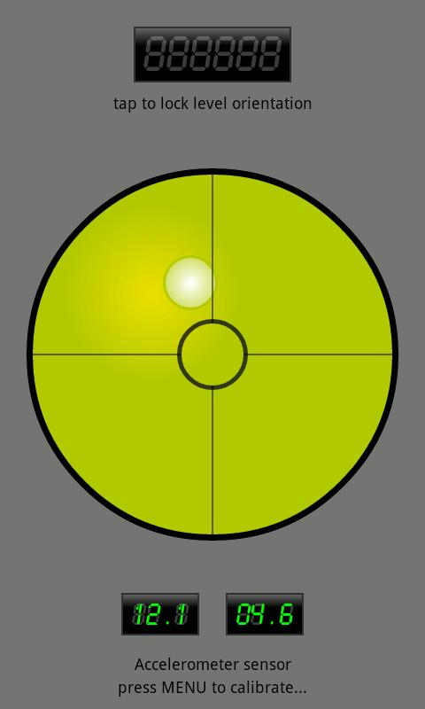 Bubble level- screenshot
