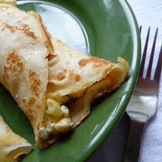 Mediterranean Feta Egg Scramble {Breakfast Wraps Optional}.