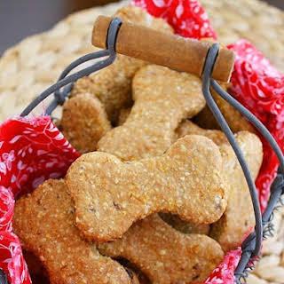 Homemade Peanut Butter & Bacon Dog Treats.