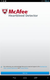 McAfee Heartbleed Detector- screenshot thumbnail