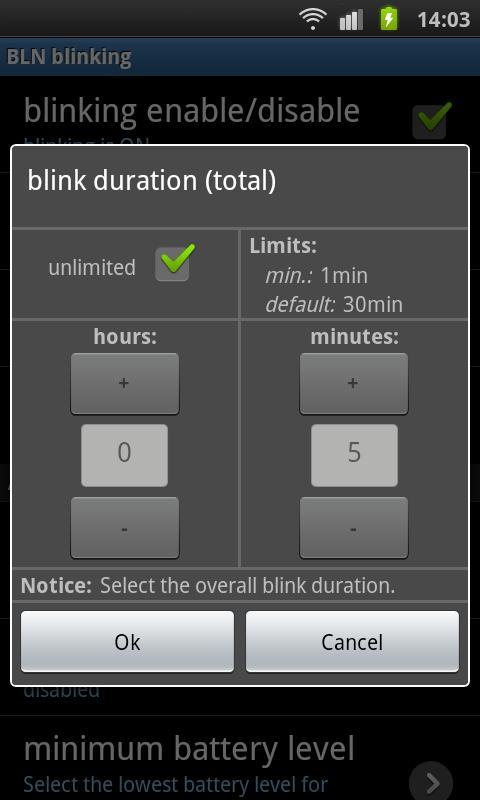 BLN control - Pro- screenshot