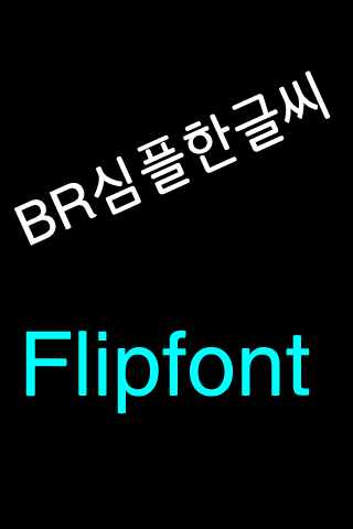 BRupright™ Korean Flipfont