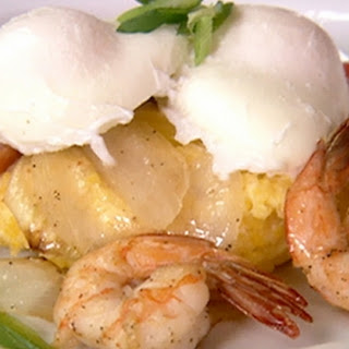 Charleston Prawn And Polenta With Blue Crab Gravy