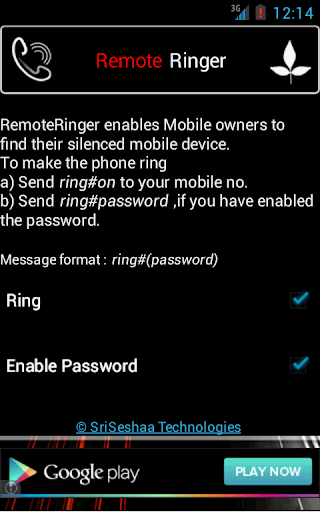 RemoteRinger Phone Finder App