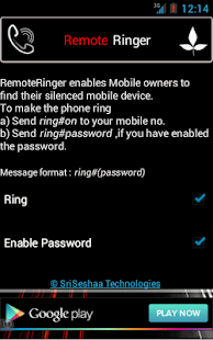 RemoteRinger, Phone Finder App - screenshot thumbnail