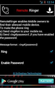RemoteRinger, Phone Finder App - screenshot thumbnail
