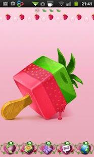 Strawberry cake Go Launcher EX