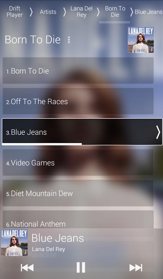 Drift Player - screenshot