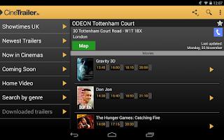 Screenshot of CineTrailer Cinema