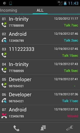 Slide Call-log Free