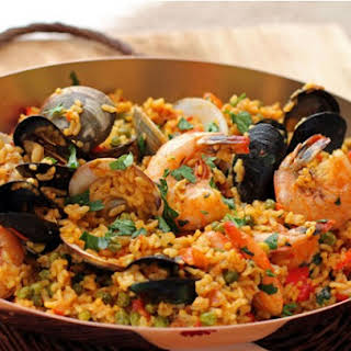 Spicy Andalusian Seafood Paella.