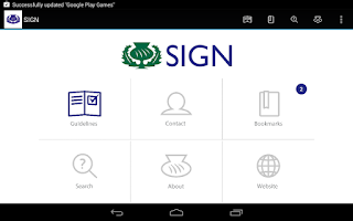 Screenshot of SIGN Guidelines