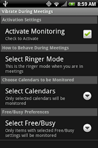 Vibrate During Meetings screenshot 0