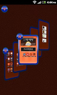 TSF Shell Theme Orange Blue HD- screenshot thumbnail