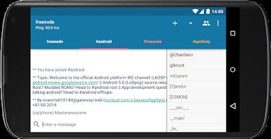 Screenshot of AndroIRC