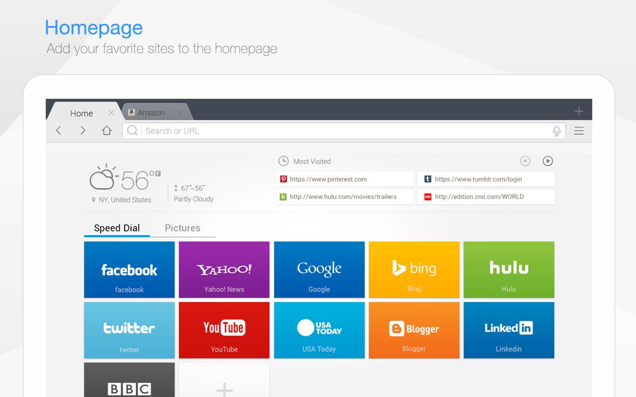 Baidu Browser for Tablet- screenshot
