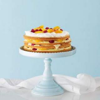 Raspberry-Peach Trifle Cake