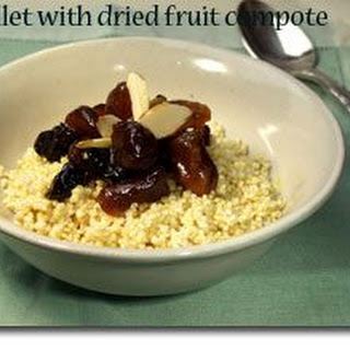 Millet with Dried Fruit Compote