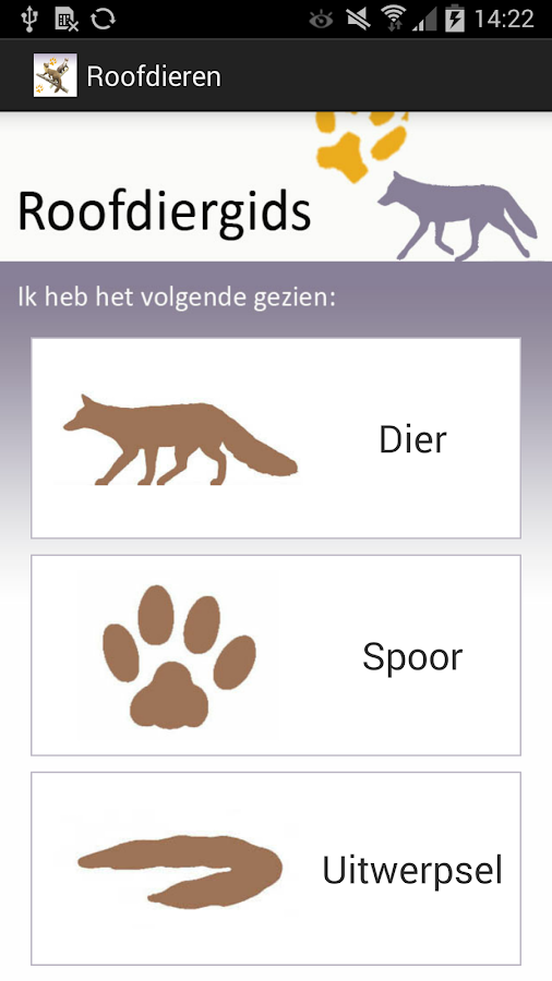 Roofdieren: screenshot