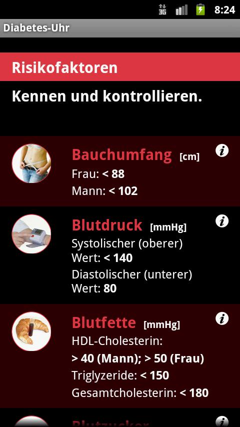 Diabetes-Uhr - screenshot