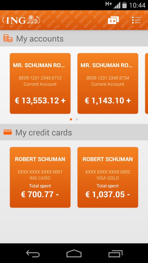 ING Smart Banking- screenshot
