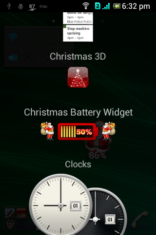 【免費個人化App】Christmas battery widget FREE-APP點子