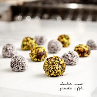 Pistachio Coconut Truffles