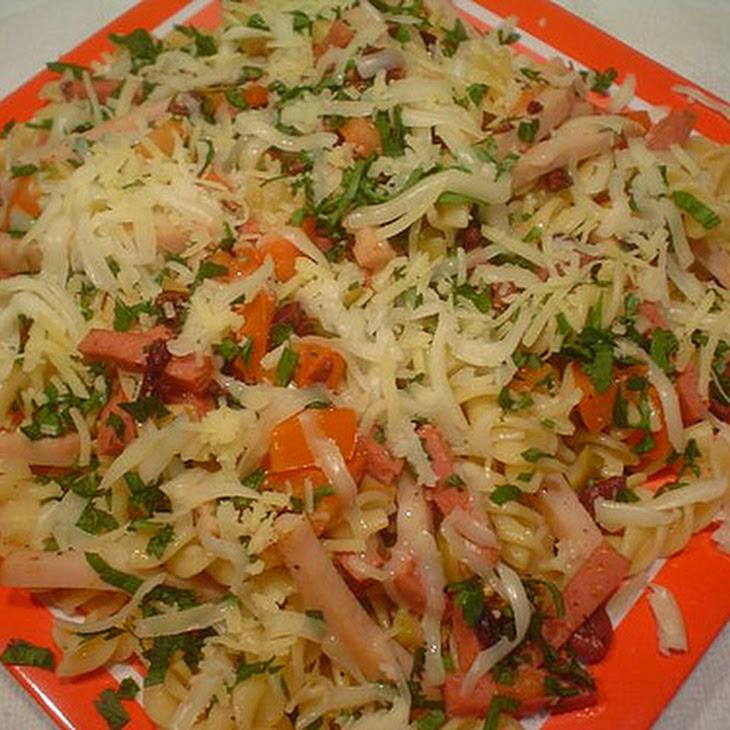 Muffuletta Pasta with Olive Salad Recipe