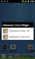Screenshot of Halloween Clock Widget