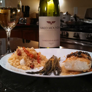 Wine Wednesday ~ Halibut, Couscous, Asparagus and Local Wine