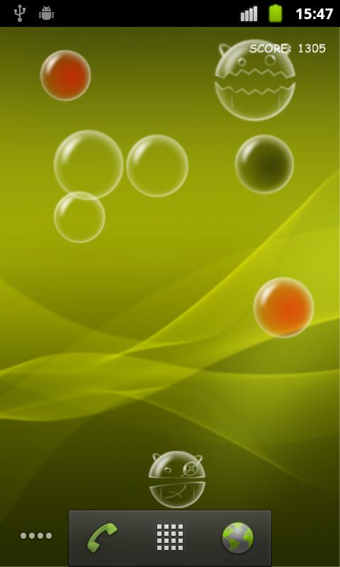 Bubble Droid Live Wallpaper- screenshot