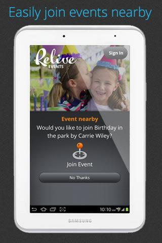 Relive Events- screenshot