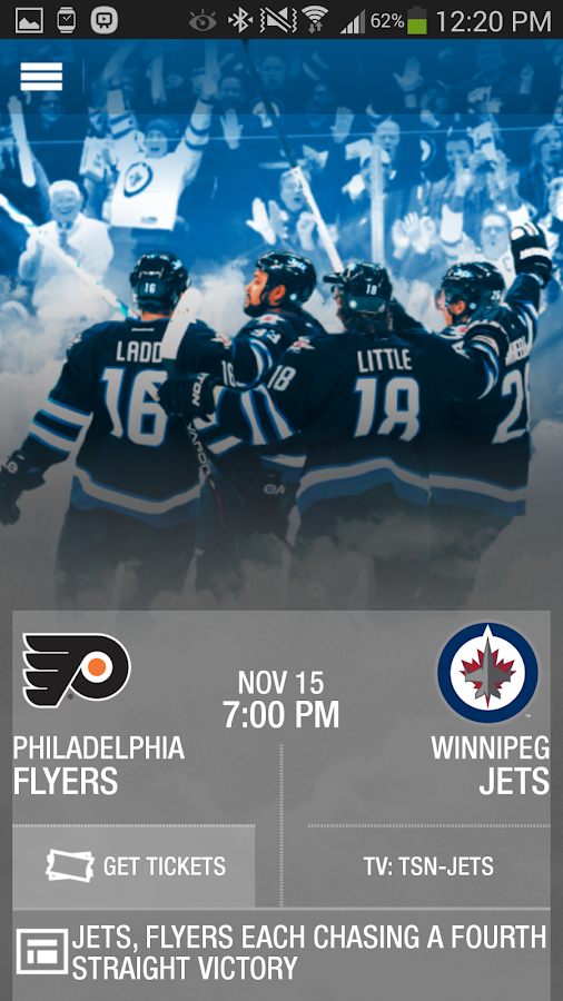 The Winnipeg Jets App - screenshot