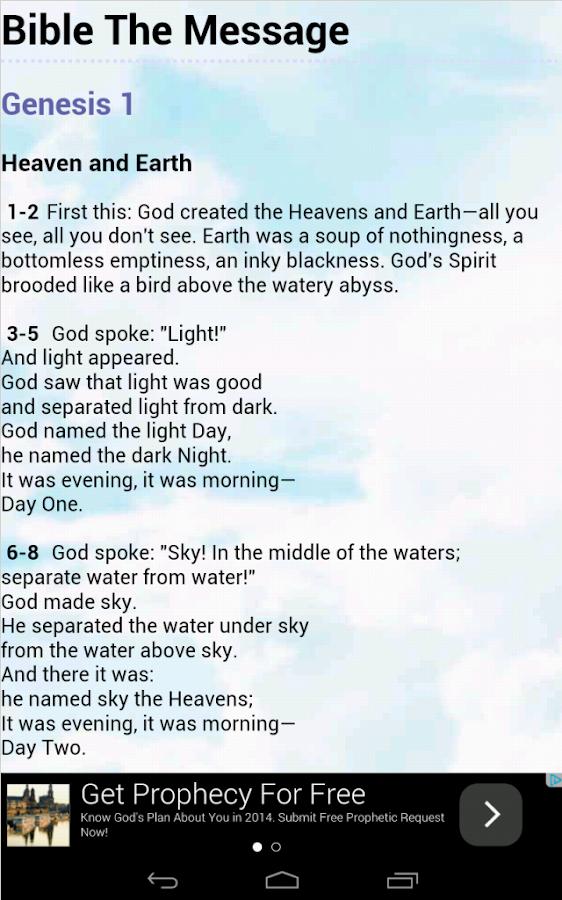 Bible The Message - screenshot