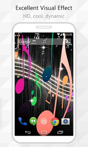 【免費個人化App】Music Note Live Wallpaper-APP點子