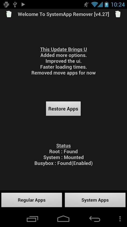 SystemApp Remover - screenshot