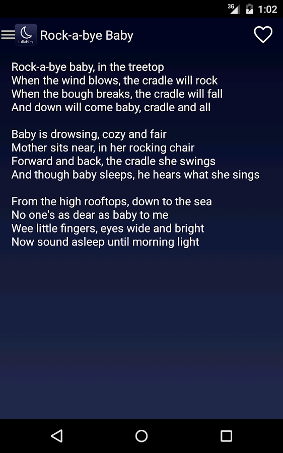 Lullaby Lyrics- screenshot