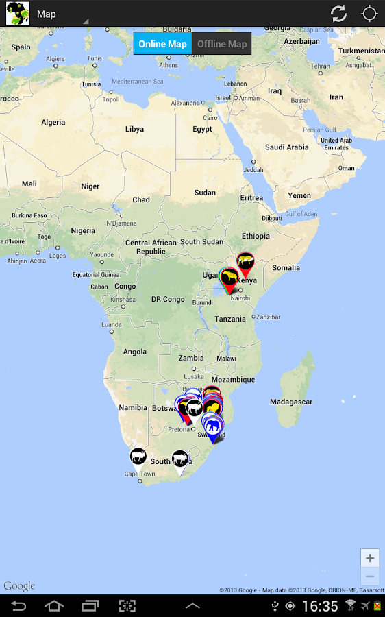 Africa: Live Safari Sightings - screenshot